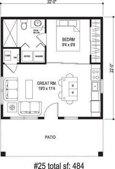 Exceptional One Bedroom Home Plans #10 1 Bedroom House Plans   Home ...