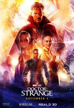Illustrated posters created for Disney and Marvel Studios for the release of the film Doctor Strange Films Marvel, Marvel Movie Posters, Movie Posters For Sale, Poster Marvel, Hero Marvel, Marvel Dc, Doctor Strange Poster, Dr Strange Dvd, Doctor Stranger Movie