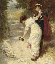 Frederick Morgan (British 1847-1927) Love's Interruptions.