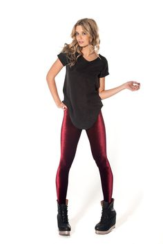 Velvet Mulled Wine Leggings