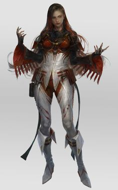 Fantasy Female Warrior, Sci Fi Fantasy, Fantasy Girl, Fantasy Setting, Female Characters, Fictional Characters, Character Design References, Horror Art, Science Fiction