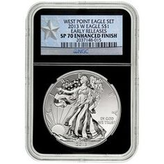 2013 W Silver American Eagle Enhanced Finish SP70 ER NGC Black Retro Star Label