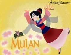 http://princessbeautycase.deviantart.com/art/Mulan-wall-painting-481534996