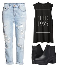 """""""Untitled #752"""" by frecorecce ❤ liked on Polyvore featuring H&M, Steve Madden, women's clothing, women, female, woman, misses and juniors"""
