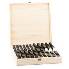 87 bottle wooden essential oil storage box