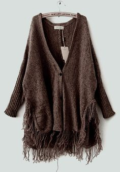 Coffee Knit Cardigan