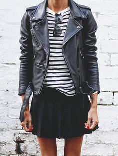 leather + stripes //