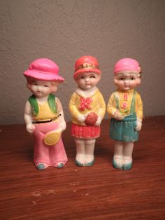 Trio of Vintage Bisque Dolls by hopsack on Etsy, $24.00