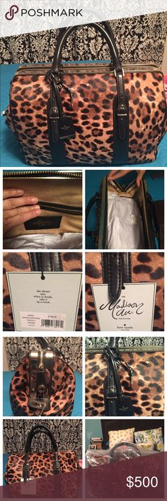 NWT Kate Spade Madison Ave Alpine Road Marita NWT Kate Spade Madison Ave Alpine Road Marita Leopard Bag. New - Still in plastic. Gorgeous bag! Comes with Dust bag. Retails for $1500 Exclusive Kate Spade Collection. Make me an offer! My loss your gain! kate spade Bags