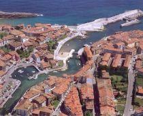 Vista aérea de Llanes, Asturias.