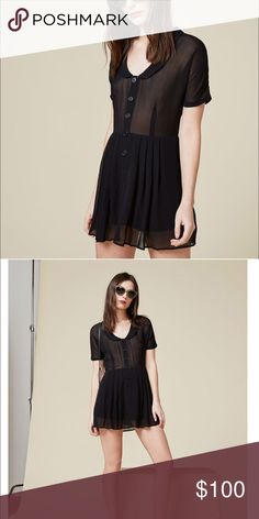 51d910001f870 Reformation Pali dress mini size 4 black Just a cute little lady that wants  to go
