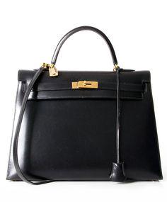 Hermès Black Kelly Bag secondhand authentic designer luxury bags high-end labels online safe shopping webshop Antwerp Belgium LabelLOV fashion style
