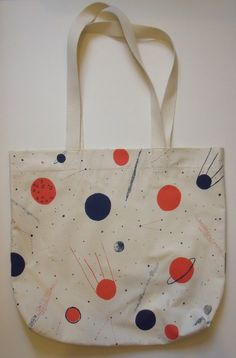 Planets Screen Print Space Bag by Caitlin Hinshelwood