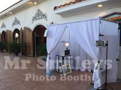 Enclosed Photo Booth in a vineyard with Social Media Integration