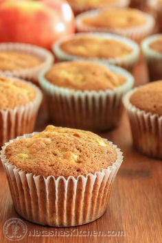 """These Apple Banana Muffins are a super alternative to """"boxed"""" cupcakes. These…"""