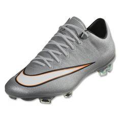 factory price a763c 60a1f Cheap Nike Mercurial Vapor X CR7 FG Men s Soccer Cleats Metallic  Silver White