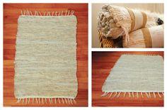 Maginifique tapis tissé à la main format 24 pouces par 32 pouces.  Fait à la main sur mon métier Ashford.  Fait de fibres 100% coton très