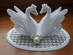 See that beautiful crochet work. This model is very perfect. this crochet swan is a delicate model worked in white colors and stayed just as...