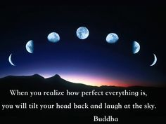 """When you realize how perfect everything is..."" Buddha"