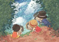 One Piece Manga, One Piece 1, One Piece Images, One Piece Fanart, One Piece Luffy, Fruit Du Demon, Ace And Luffy, Anime Manga, Dragon Art