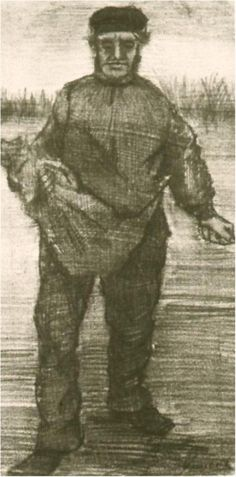 Vincent van Gogh Drawing in Pencil. The Hague: December, 1882. Location of piece still unknown and missing (stolen or looted by the Nazi's)