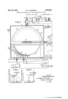 Apparatus for the Acceleration of Ions (Cyclotron!) Ernest O. Patent Drawing, Technical Drawing, Science, Tools, Drawings, Art, Tecnologia, Art Background, Kunst