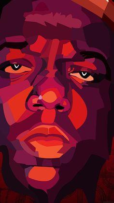 wallpaper for iPhone, iPad Iphone 6 Plus Wallpaper, Pop Art Wallpaper, Wallpaper Backgrounds, Top Music Artists, Graffiti Characters, Biggie Smalls, Hip Hop Art, African American Art, Live Wallpapers