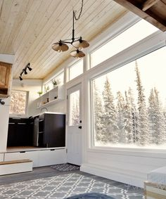 Large triple pane windows provide incredible views.
