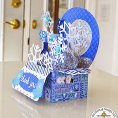 Doodlebug Design Inc Blog: Frosty Friends Pop-up Card by Courtney