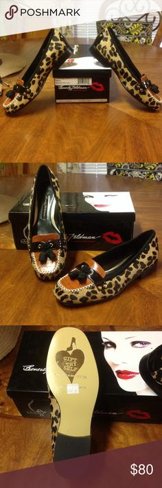 Gorgeous leopard print Beverly Feldman size 7 Beautiful shoes, perfect for the fall! Get 'em while you can! You open the box and it smells like the most delicious leather! Beverly Feldman Shoes Flats & Loafers