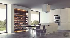 Une cave à vin contemporaine qui s'intègre parfaitement dans votre cuisine