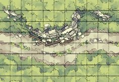 roadside map battle wilderness tiles maps rise road forest tile dragons dungeons pathfinder grid dungeon 2minutetabletop encounter minute path tiling