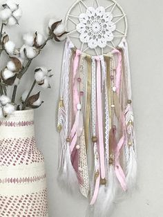 Pink and Gold Dream Catcher Pink Dreamcatcher Gifts for Baby
