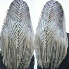 Really cool braids - New Site Pretty Hairstyles, Girl Hairstyles, Braided Hairstyles, Amazing Hairstyles, Cool Braids, 2 Braids, Braid Hair, Plaits, Hair Art