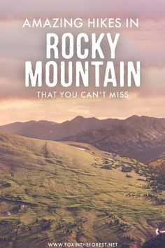 Dreaming of conquering Rocky Mountain National Park? If you're visiting Rocky Mountain in Colorado soon and wondering what to hike, I've put together a list of the best hikes in Rocky Mountain that you can't miss! These hikes are incredibly scenic and for Colorado Hiking, Colorado Usa, Colorado Vacations, Colorado Springs, Alberta Canada, Costa Rica, Hiking Tips, Hiking Gear, Hiking Boots