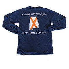 Alabama Auburn Traditional Long Sleeve T-Shirt