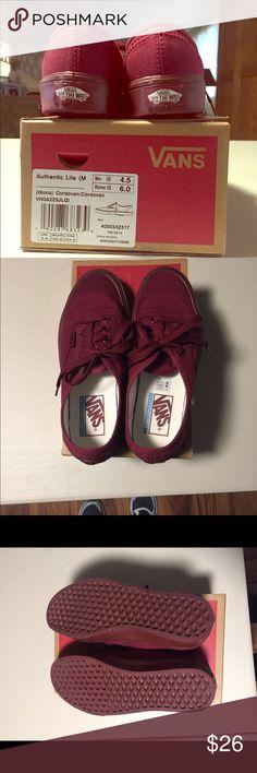 Vans Vans size 6 in women's, worn once. Vans Shoes Sneakers