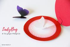 How to make yoyo of Lady bug in paper- Free template from sta .- Come fare lo yoyo di Lady bug in carta- Free template da stampare How to make Lady bug yoyo on paper- Free template to print - Ladybug Crafts, Ladybug Party, Miraclous Ladybug, Abc Party Costumes, Cute Halloween Costumes, Miraculous Ladybug Costume, Diy And Crafts, Crafts For Kids, Diy Barbie Clothes
