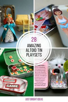 These Altoid tin playsets are brilliant - perfect for road trips!