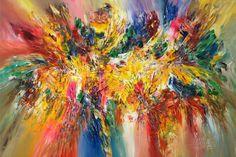"""Saatchi Art Artist Peter Nottrott; Large abstract modern Painting, """"Joie De Vivre XL 1"""" #art"""