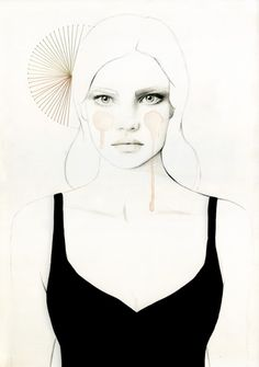 Australian illustrator Elisa Mazzone creates these beautiful fashion illustrations