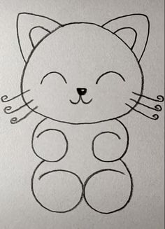 cat crafts for kids easy - cat crafts . cat crafts for kids . cat crafts for toddlers . cat crafts for kids easy . cat crafts for adults . cat crafts for kids art projects Easy Cartoon Drawings, Easy Drawings For Kids, Art Drawings Sketches Simple, Cute Animal Drawings, Pencil Art Drawings, Cute Drawings, Easter Drawings, Cat Cartoon Drawing, Easy Drawings Of Animals