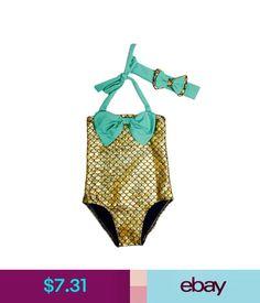 5fdebd2227 Girls  Clothing Little Mermaid Bows Children Kids Girls Bikini Bathing  Swimsuit Beach Swim Wear