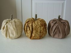 These seem so easy to make and cute for fall decor!  No sewing required!