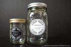 Free Printable: Floral Homemade Mason Jar Labels