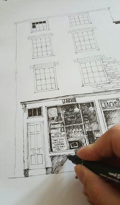 Home - Sally Atkins Pencil Shading, Parlour, Atkins, Sally, Ice Cream, Ink, Illustrations, Prints, No Churn Ice Cream