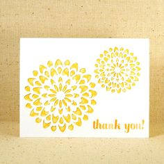 KTF Design - Medallion Thank You Cards - Set of 6. $12.00, via Etsy.