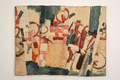 Matthew Harris is a graduate of Goldsmiths making work that employs dying, cutting and hand stitching abstract imagery and the translation of drawn marks into cloth Textile Dyeing, Textile Fiber Art, Textile Artists, Textiles, Sewing Art, Patch Quilt, Elements Of Art, Recycled Art, Fabric Art