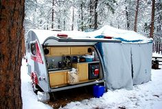 You have to really love camping to do this!