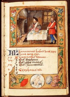 January - Book of Hours in Latin and Dutch (use of Liège), Diocese Liège (Maastricht?), Franciscus Verheyden (scribe); c. 1500-1525 - The Hague, Koninklijke Bibliotheek, 133 D 11